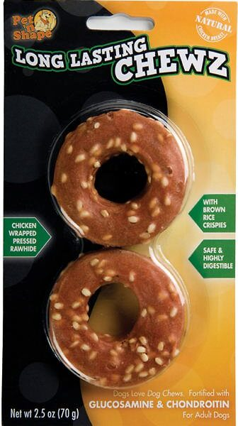 Long Lasting Chewz – 2.5 Inch Rings – 2 Pack – Chicken