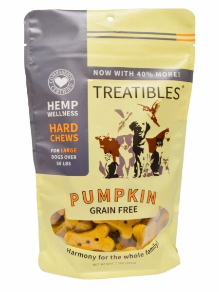 Pumpkin GrainFree Chews - Lg dog 4mg (7.2oz)