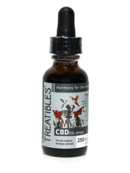 CBD 250mg Oil Dropper Bottle with Coconut Oil