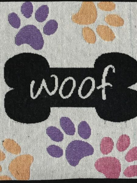 Woof w/ Multiple Paws Fashion Mat