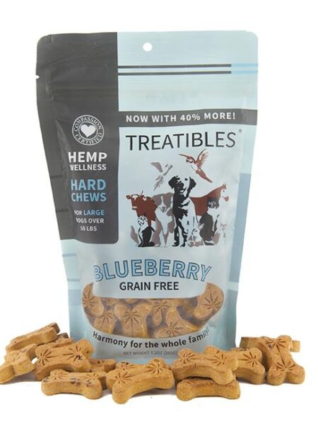 Blueberry Grain Free Chews - Lg dog 4mg (7.2oz)