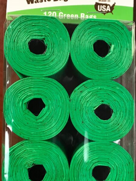 Clean-up Cored Roll Scented Refill Bags (Green) - 120 Count