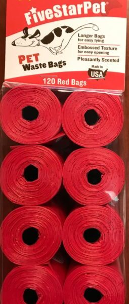 Clean-up Cored Roll Scented Refill Bags (Red) - 120 Count