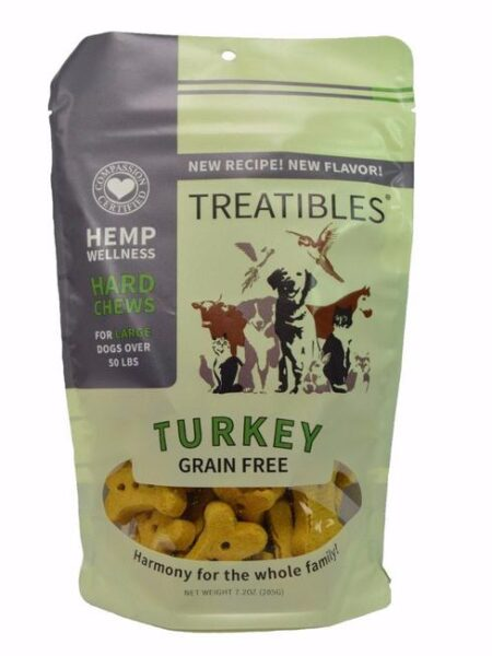 Turkey Grain Free Chews - Lg dog 4mg (7.2oz)