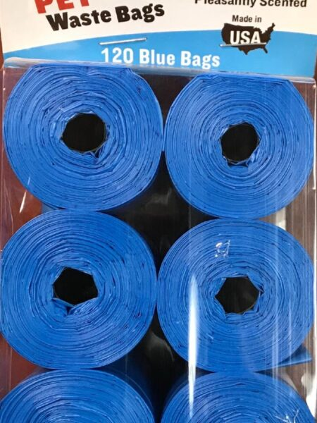 Clean-up Cored Roll Scented Refill Bags (Blue) - 120 Count