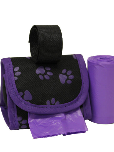 Waste Bag Dispenser - Purple Paws
