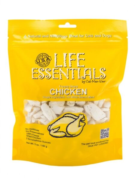 Life Essentials Freeze Dried Chicken, 2oz. Bag