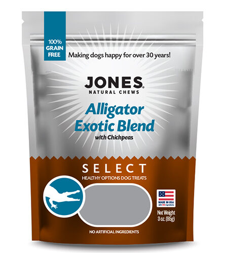 Jones Natural Chews Alligator Exotic Blend