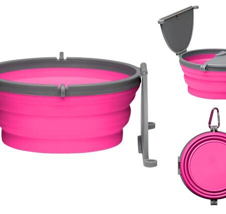 Bella Roma Travel Bowl - Pink - Large