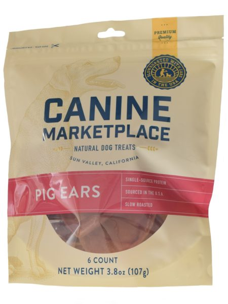 CANINE MARKETPLACE PIG EARS 6 COUNT 3.8OZ