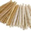 White Rawhide Twist Sticks 7mm