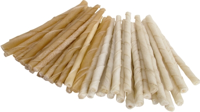 White Rawhide Twist Sticks 7mm