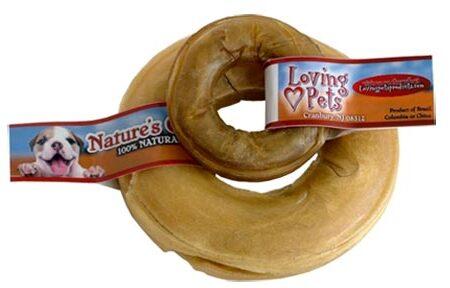 6 inch Pressed Rawhide Donut