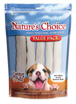 13 Pack 4 inch White Rawhide Retriever Rolls