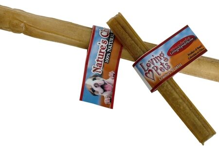 10 inch x 25mm Pressed Rawhide Stick