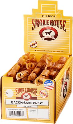 SMOKEHOUSE BACON SKIN TWIST 60 CT USA