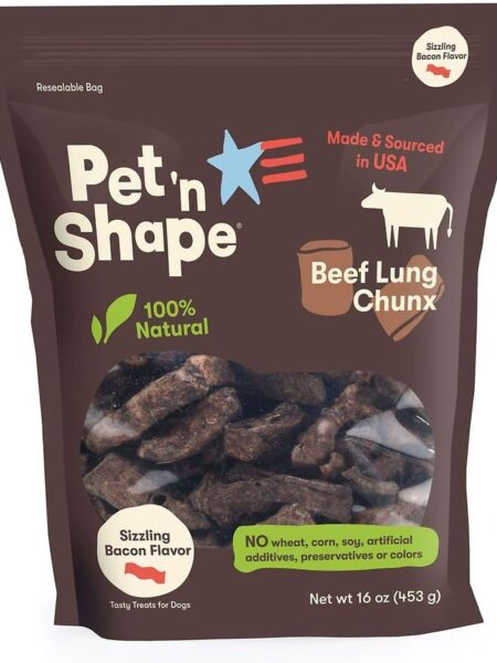 Beef Lung Chunx Bacon Flavor 1lb bag