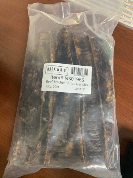 """Beef Trachea Liver Lick 10""""-12"""" Refill Bags 20ct"""